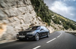 BMW 7 Series, 2016, front, action