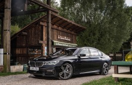 BMW 7 Series, 2016, side, static