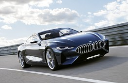 BMW 8 Series Coupe concept, 2017, front, action