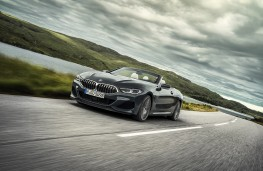 BMW 8 Series Convertible, 2019, front, action