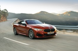 BMW 8 Series Coupe, 2018, front, action