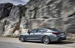 BMW 8 Series Gran Coupe, 2019, rear, action