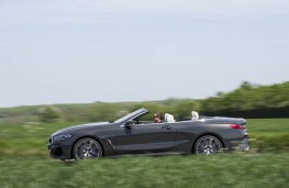 BMW 8 Series Convertible, 2019, side, action