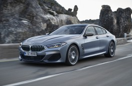 BMW 8 Series Gran Coupe, 2019, side, action