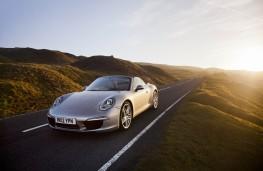 Porsche 911 Carrera S Cabriolet, front, action