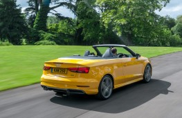 Audi A3 Cabriolet, 2016, rear, action