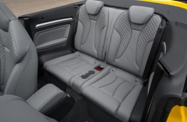 Audi A3 Cabriolet, 2016, rear seats