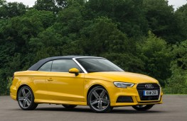 Audi A3 Cabriolet, 2016, side, hood up