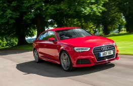Audi A3 saloon, 2016, front, action