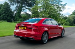 Audi A3 saloon, 2016, rear, action