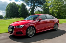Audi A3 saloon, 2016, side, action