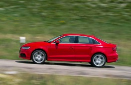 Audi A3 Sportback, 2016, side, action