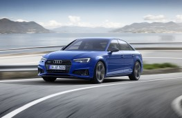 Audi A4, 2018, front, action