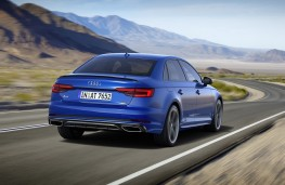 Audi A4, 2018, rear, action