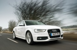 Audi A4 Saloon, front, action