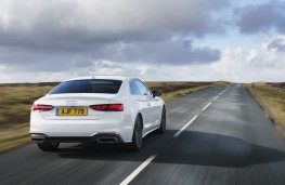 Audi A5 Coupe, 2021, rear, action