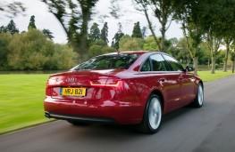Audi A6, rear, action
