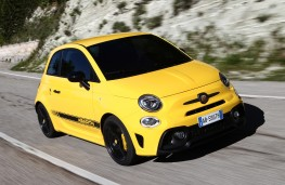 Abarth 595, 2016, front, action