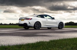 BMW 4 Series Coupe, 2021, side, static