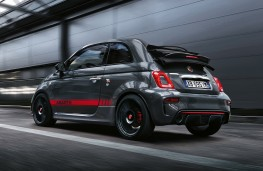 Abarth 695 XSR Yamaha cabriolet, 2017, rear, action