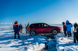 Mazda CX-5, Siberia, 2018, crossing ice hole