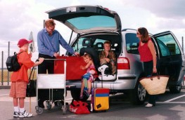 Family going on holiday