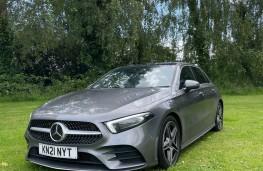Mercedes-Benz A 200 d, 2021, front, upright