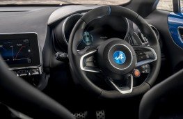Alpine A110 Premiere Edition, 2018, steering wheel