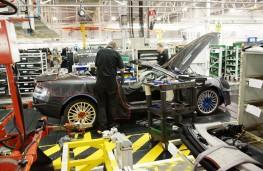 Aston Martin production line at Gaydon