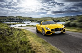 Mercedes-AMG GT S Roadster, 2018, front, action