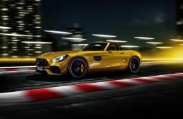Mercedes-AMG GT S Roadster, 2018, side, action