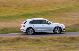 Audi Q5 2.0 TFSI quattro, 2017, side, action