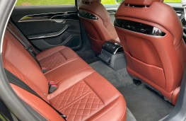 Audi S8, 2021, rear seats