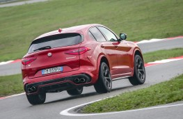 Alfa Romeo Stelvio, Balocco, 2018, rear, action