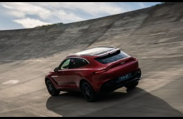 Aston Martin DBX, 2019, rear, action