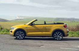 Volkswagen T-Roc Cabriolet, 2021, side, roof down