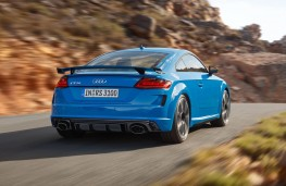 Audi TT RS Coupe rear action