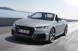 Audi TT RS Roadster front action