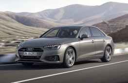 Audi A4 saloon 2020 front action