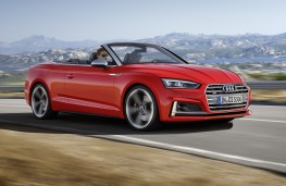 Audi A5 Cabriolet red front action
