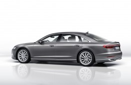 Audi A8 2017 rear threequarter