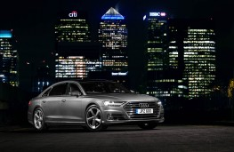 Audi A8 L, night static