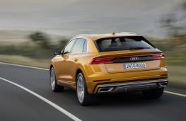 Audi Q8 2018 rear action