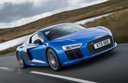 Audi R8, blue front action