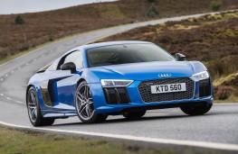 Audi R8, blue front static