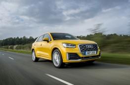 Audi Q2, 2018, front, action