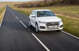 Audi Q5, 2018, front, action