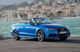 Audi A3 Cabriolet, side, roof down