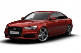 Audi A6 Saloon Black Edition, side
