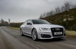Audi S8 plus, front, action